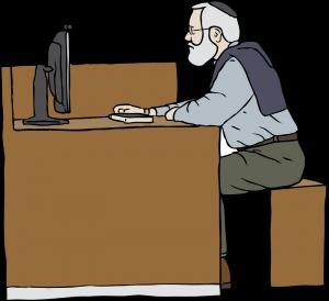 SteveLambert_Man_Working_On_Computer openclipart.org